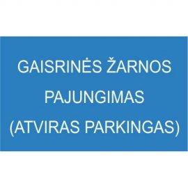Lipdukas Gaisrinės žarnos pajungimas, atviras parkingas