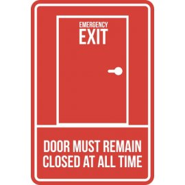 Lipdukas Emergency Exit Door Must Remain Closed At All Time