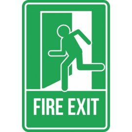 Lipdukas Fire Exit Sign