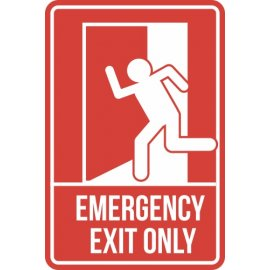 Lipdukas Emergency Exit Only Sign