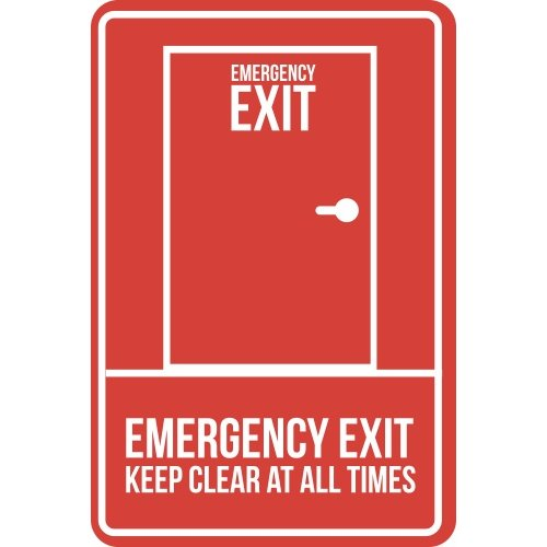 Lipdukas Emergency Exit Keep Clear At All Times
