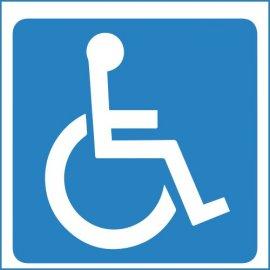 Lipdukas Invalido vairuojamas automobilis