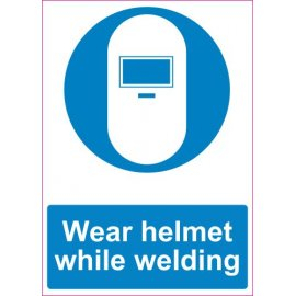 Lipdukas Wear helmet while welding