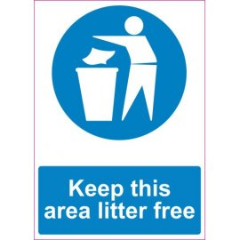 Lipdukas Keep this area litter free