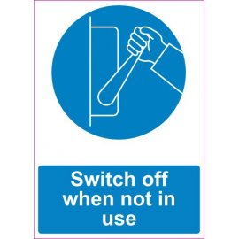 Lipdukas Switch off when not in use