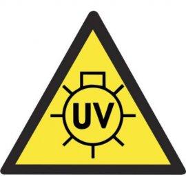 Lipdukas Atsargiai! UV spinduliavimas