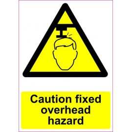 Lipdukas Caution fixed overhead hazard