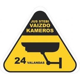 Įspėjamasis lipdukas Atsargiai! Stebi vaizdo kameros CCTV 010
