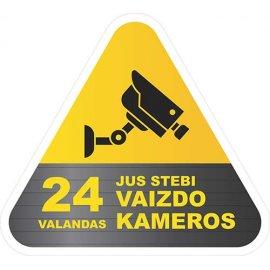 Įspėjamasis lipdukas Atsargiai! Stebi vaizdo kameros CCTV 013