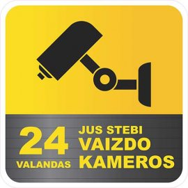 Įspėjamasis lipdukas Atsargiai! Stebi vaizdo kameros CCTV 014