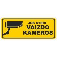Įspėjamasis lipdukas Atsargiai! Stebi vaizdo kameros CCTV 017