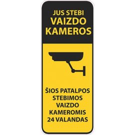 Įspėjamasis lipdukas Atsargiai! Stebi vaizdo kameros CCTV 021