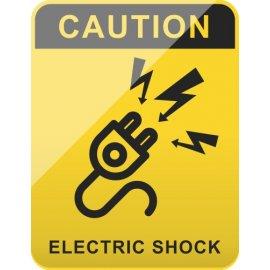 Lipdukas Caution - Electric shock