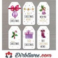 16 vnt, Kalėdiniai lipdukai Merry Christmas, Linksmų Šv. Kalėdų, Best Christmas Wishes