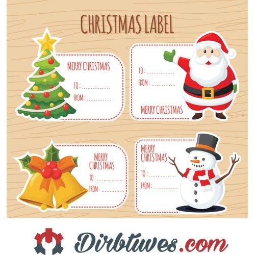 Merry Christmas Picture.16 Vnt Kalėdiniai Lipdukai Merry Christmas Linksmų Sv Kalėdų Label