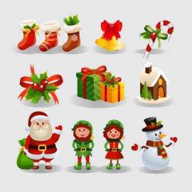 Kalėdinių lipdukų rinkinys