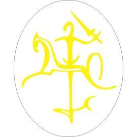 Lipdukas Lietuvos Vytis geltonas baltam fone