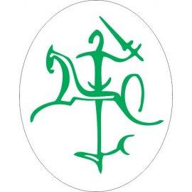 Lipdukas Lietuvos Vytis žalias baltam fone