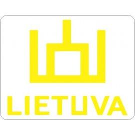 Lipdukas Lietuva ženklas geltonas baltame fone