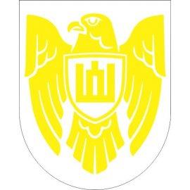 Lipdukas Istorinės Lietuvos ženklas geltonas baltame fone