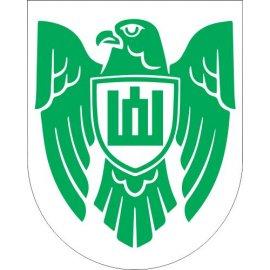 Lipdukas Istorinės Lietuvos ženklas žalias baltame fone