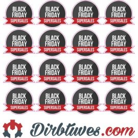 Lipdukai Juodasis Penktadienis, Black Friday, Special sales, 16 vnt