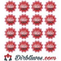 Lipdukai Juodasis Penktadienis, Black Friday, Special offer, 16 vnt