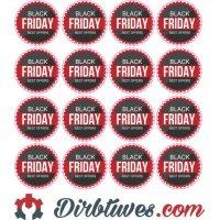 Lipdukai Juodasis Penktadienis, Black Friday, Best offers, 16 vnt