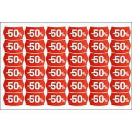Nuolaidų lipdukų rinkinys - 50