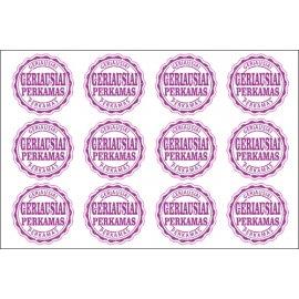 Lipdukų rinkinys Geriausiai perkamas violetinis, 50 vnt