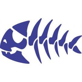 Lipdukas Žuvis be fono (įvairios spalvos)