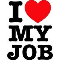 Lipdukas I love my job (Aš myliu savo darbą)