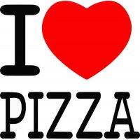 Lipdukas I love Pizza (Aš myliu picą)