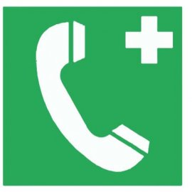 Lipdukas Pirmoji pagalba Telefonas