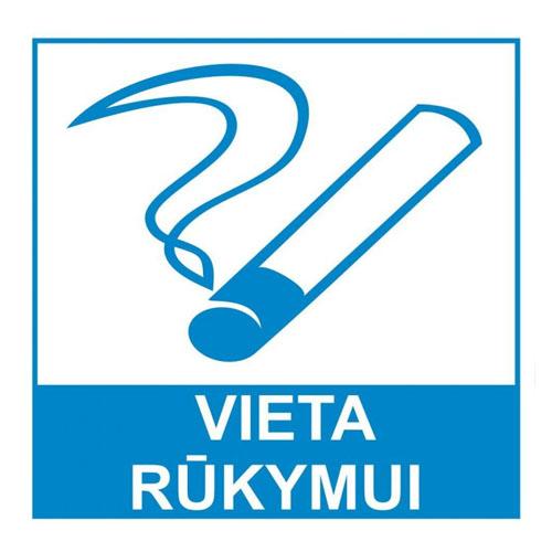 Lipdukas RŪKYMO VIETA 135x135mm