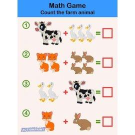 Plakatas mokomasis Matematinis žaidimas vaikams 0001