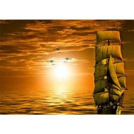 Plakatas Saulėlydis jūroje