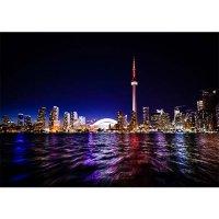 Plakatas Toronto miestas naktyje