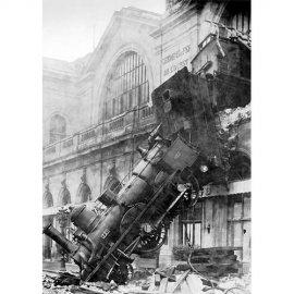 Plakatas Traukinys Wreck Montparnasse stotyje, Paryžius, Prancūzija, 1895