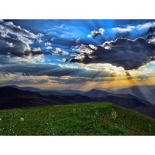 Plakatas Saulė už debesų