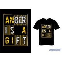 Marškinėliai Anger is a Gift