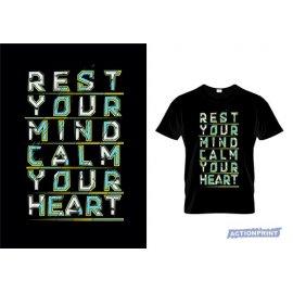 Marškinėliai Rest your mind calm your heart