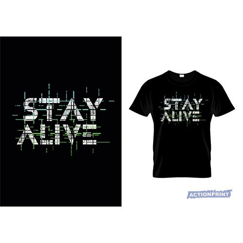 Marškinėliai Stay Alive