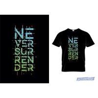 Marškinėliai Never Surrender