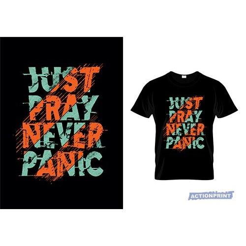 Marškinėliai  Just Pray Never Panic