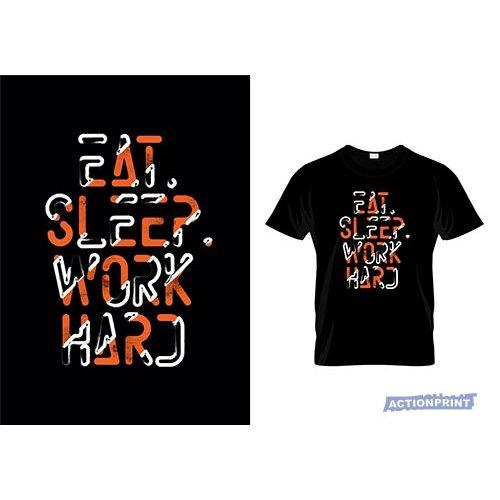 Marškinėliai Eat Sleep Work Hard