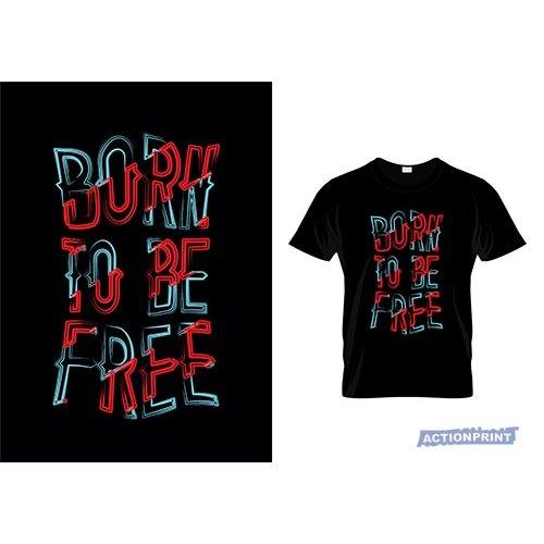 Marškinėliai Born To Be Free