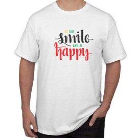 Marškinėliai Just smile and be happy