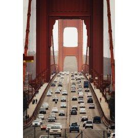 Fototapetai Tilto architektūra su automobiliais