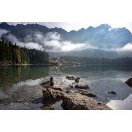 Fototapetai Kalnų ežero dvaro peizažas